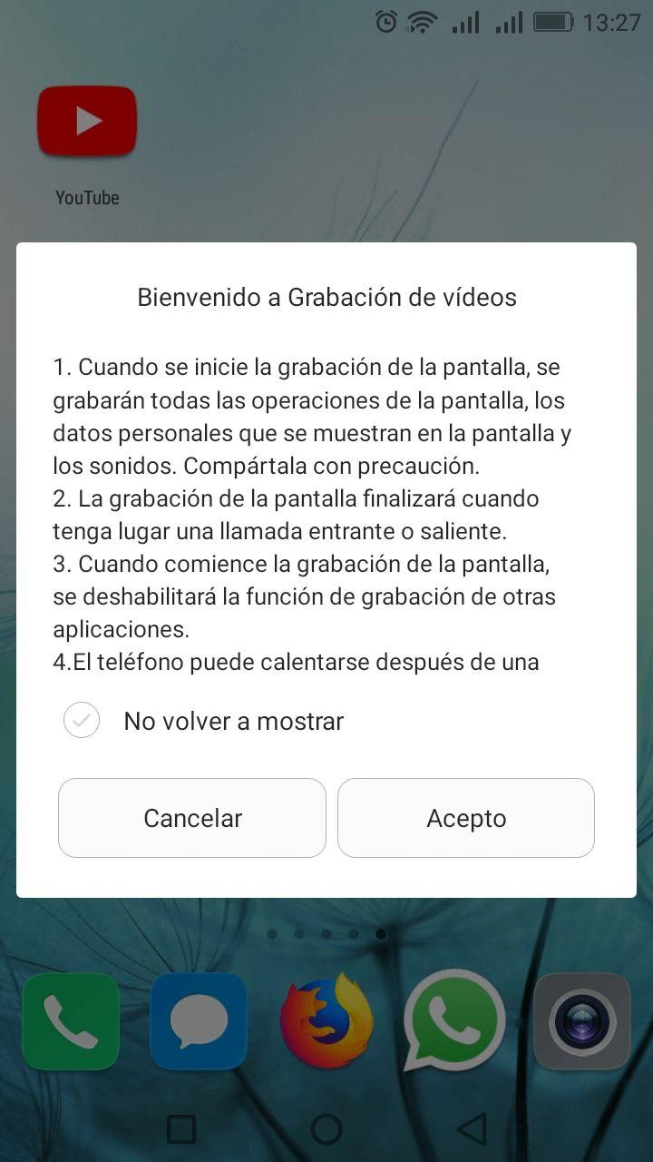 grabar la pantalla en android c2