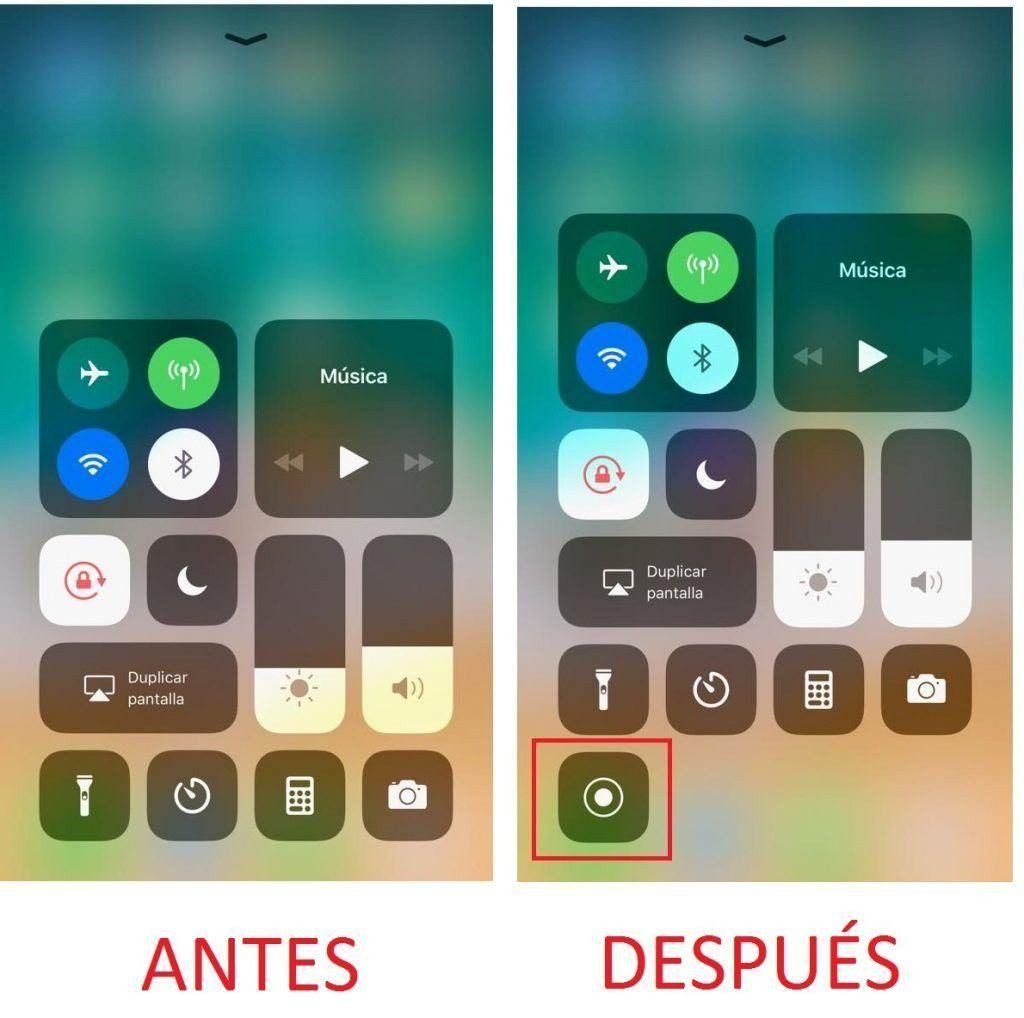 grabar la pantalla en iphone c0